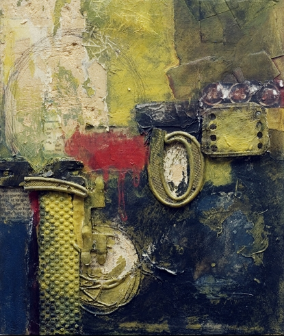 From the Rubble, 2007 :: collage & acrylic on canvas